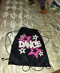 black, white and pink dance draw string bag Severn, 21144