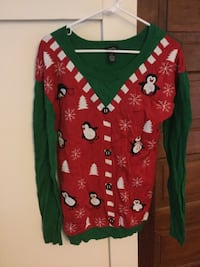 red white and green scoop neck sweater Almont, 48003