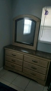 brown wooden dresser with mirror Tampa, 33604