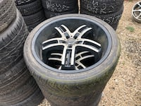 """22"""" dodge charger rims & tires &550"""