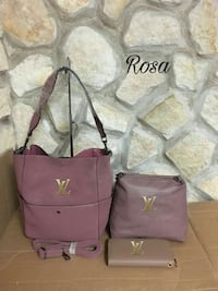 tracolla rosa Louis Vuitton