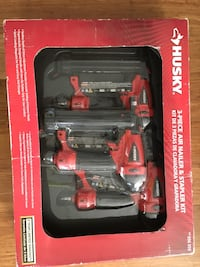 Husky 3 piece air nail gun brand new in the box still. Never used   Sterling, 20164