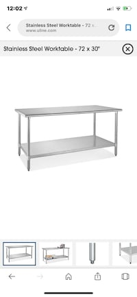 stainless steel frame glass top table New York, 11229