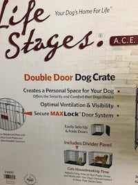 Dog Crate (double door) Laval, H7V 3N9