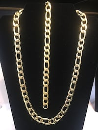 Stainless steel gold plated  chain and bracelet Las Vegas, 89102