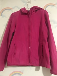 pink hooded pullover zip-up jacket 马卡姆, L3R 7A2