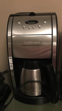 12 cup cuisinart coffee pot with grinder for bean coffee if you want to grind your own. same as new
