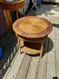 Great small wicker coffee table..minor wear and te