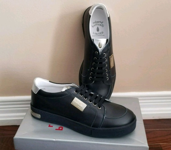 New Roberto Botticelli kids leather shoes sneakers