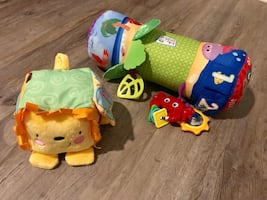 Prop pillow and activity block baby toys