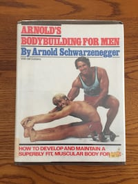 Arnold's Bodybuilding for Men by Arnold Schwarzenegger Collectors Hardcover Book Aurora, L4G 3K4