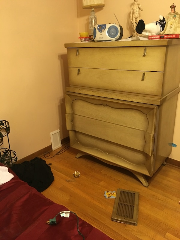 Used Antique Dresser Bedroom Set Full Size Bed Frame Great