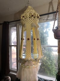 Vintage Macrame hanging shelf. Amazing piece to have in your home .