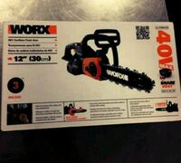 black and red Worx chainsaw box San Bernardino, 92410