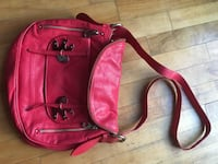 Genuine Red leather Marc Jacobs crossbody bag. Near new