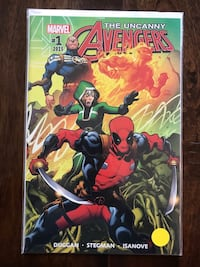 Uncanny Avengers comic #1 feat Deadpool. Excellent condition. Bagged and boarded.  Calgary, T3M