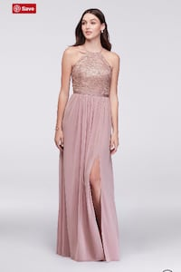 Never Worn Lace Dress - Rose Gold
