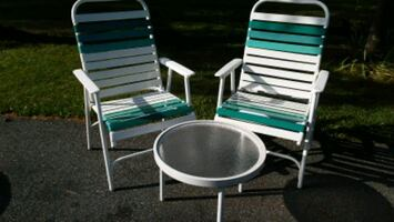 RETRO FOLDING PATIO SET