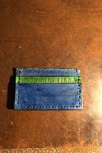 Handmade wallet. Real leather and hand stitching.