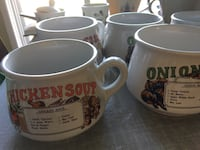 Soup cups with recipe on it Vaudreuil-Dorion, J7V 7W9