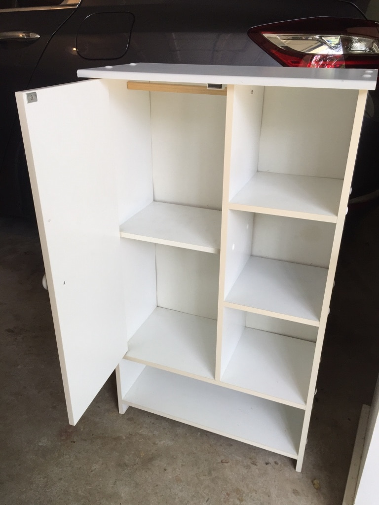 used white cabinet with shelves and door for sale in johns creek letgo rh us letgo com