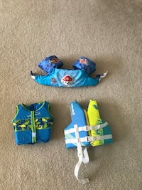 Youth life jackets and floatie-$5 each