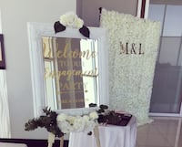 Personalized mirror signs and seating charts Vaughan