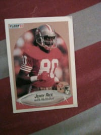 Neg Price on Legend Wide Receiver Jerry Rice card Washington