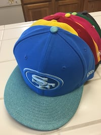 Blue and green new era snapback cap Lincoln, 95648