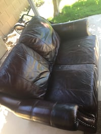 Ralph Lauren Leather Couch