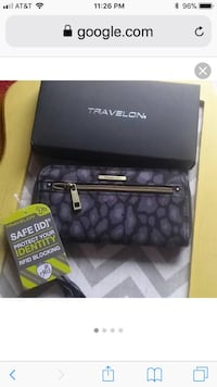 Travelon RFID Wallet. 3 to sell, black, navy& print. $12.00 Each New Orleans, 70123