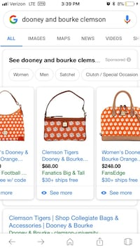 Dooney & Bourke  clemson hand bag Simpsonville, 29680