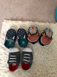 three pairs of toddler's assorted colors shoes Calgary, T3K 0M2