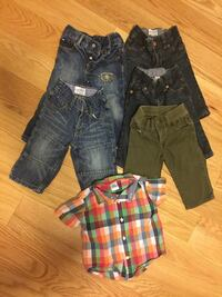 Size 6-12 months boys pants and shirt  Whitby, L1R
