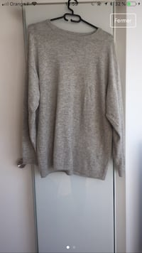Pull long gris Paris, 75017