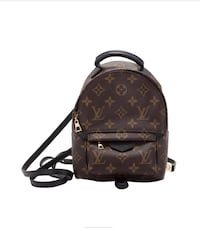 brown monogrammed Louis Vuitton leather backpack Aurora, 80012