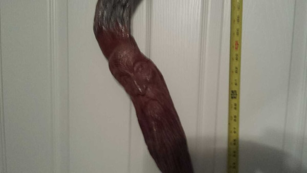 Hand Carved Wooden Wizard Staff With Ruby Eyes