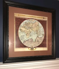 Matted world map picture