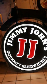 Jimmy John's neon sign Wheaton, 60189