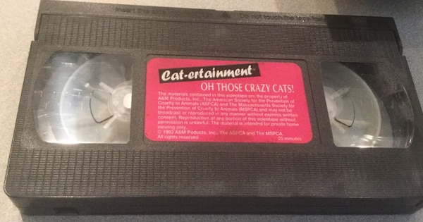 Cat-ertaianment  VHS TAPE