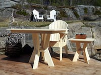Adirondack style patio table and chairs