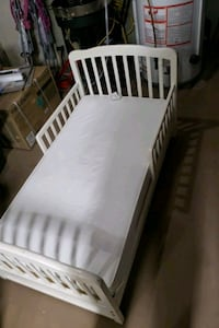 White toddler bed with mattress Norwich
