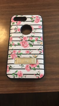 white, pink, and green floral iPhone case Vidor, 77662