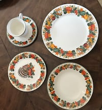 Fall 16 place settings with serving pieces