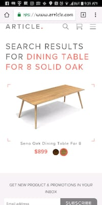 Dining Table for 8 by Article