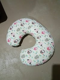 white and pink owl print neck Pillow Salem, 53168