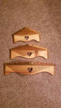 3 piece wood shelving
