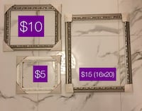 two white and gray wooden photo frames Vaughan, L4K 5Z1