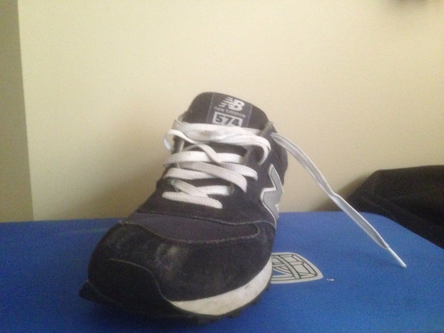 gray and black New Balance low top sneakers - Canada