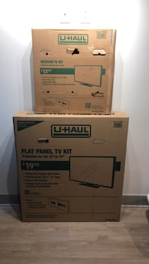 Boxes for flat screen tv.